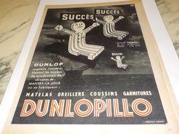 ANCIENNE   PUBLICITE SUCCES MATELAS  DUNLOPILLO  1954 - Autres