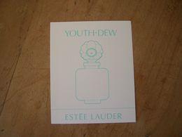 Carte Lauder Youth Dew  Suisse - Cartes Parfumées