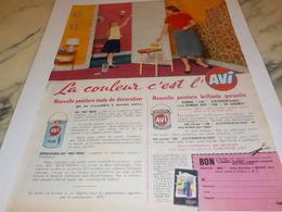 ANCIENNE PUBLICITE LA COULEUR C EST L  AVI 1959 - Autres