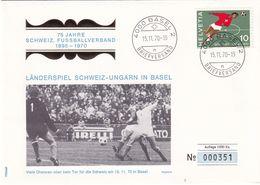 Switzerland 1970 Cover; Football Fussball Soccer Calcio: 75 Years Of Switzerland Football Association; Schweiz - Hungary - Football