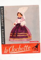 Nantes (44 Loire Atlantique) Buvard BISCOTTES CLOCHETTE N°56 SAINTONGE (M0341) - Biscottes