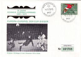 Switzerland 1970 Cover; Football Fussball Soccer Calcio: Switzerland Football Asotiation; Europa Cup FC Zürich FC Brügge - Football