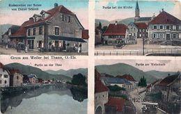 Cpa WILLER SUR THUR 68 Gruss Aus Weiler Bei Thann - Restauration Difier Schierck, Kirche, Weissbach.. - Altri Comuni