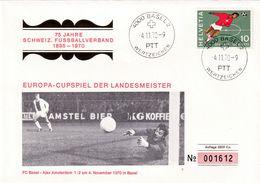 Switzerland 1970 Cover Football Fussball Soccer: Switzerland Football Asotiation; Champions Cup; FC Basel Ajax Amsterdam - Football