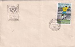 Brasil 1969 Cover: Football Fussball Soccer: Pele 1000 Goal Cachet And Stamp - Football