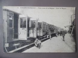 TOURCOING DOUANE FRANCAISE TRAIN VENANT DE LA BELGIQUE VISITE DES WAGONS Cachet Poste Erquighem - Tourcoing