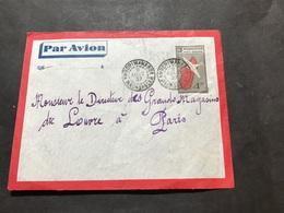 Lettre Entier Madagascar Par Avion 1937 Ambohimahasoa Pour Magasin Du Louvre Paris - Madagascar (1889-1960)