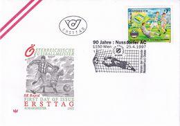 Austria 1997 Cover: Football Fussball Soccer Calcio: SK Rapid 1997 National Champion; 90 Years Nussdorfer AC - Football