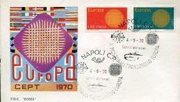 55942 Italia, Special Postmark (FDC) 1970 Napoli, Showing The Volcano, Vulkan, Vesuvio, Geology (europa 1970) - Vulkane