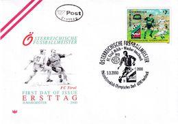 Austria 2000 Cover: Football Fussball Soccer Calcio: FC Tirol Milch - Wacker Innsbruck; National Champion: - Football