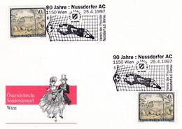 Austria 1997 Card: Football Fussball Soccer: SK Rapid 1997 National Champion; 90 Years Nussdorfer AC; Costumes Trachten - Football