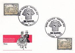Austria 1997 Card: Football Fussball Soccer: SK Rapid 1997 National Champion; Bank Austria; Costumes Trachten - Football