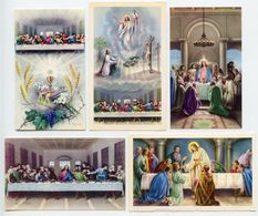 Lotto 5 Santini ULTIMA CENA (Marcati Eb: V/593, V/608, V/919, V619, V/1089) - PERFETTO P77- - Religion & Esotérisme