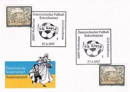 Austria 1997 Card: Football Fussball Soccer: SK Rapid 1997 National Champion; Recordmeister; Costumes Trachten - Football