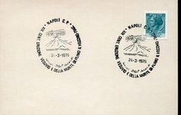 55946 Italia, Special Postmark 1979 Napoli , Showing The Volcano, Vulkan, Vesuvio, Geology, Morte Plinio Il Vecchio - Vulkane