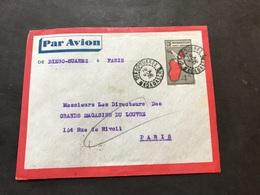 Lettre Entier Madagascar Par Avion 1936 Diego Suarez Pour Magasin Du Louvre Paris - Covers & Documents