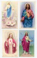 Lotto 4 Santini CUORE DI GESÙ (Marcati Eb: V/523, V/767, V/168, V/804) - PERFETTO P77- - Religion & Esotérisme