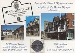 Much Wenlock Shropshire 2012 Olympic Games London Postcard - Giochi Olimpici