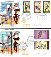 CENTRAFRIQUE 0115/17 Et A 74/75 Fdc Football, Sport Centraficain, Athlétisme, Javelot, Boxe, Basket-ball - Football