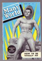 (culturisme) Revue MAN'S WORLD   August 1958   (PPP23381) - Sports