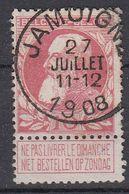 BELGIË - OPB - 1905 - Nr 74 - T1L (JAMOIGNE) - COBA + 8.00 € - 1905 Thick Beard