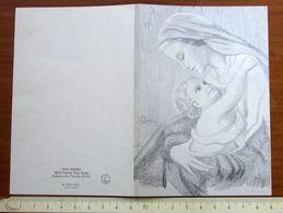 Madonna Con Bambino Illustatore Ann Adams Natale Christmas  BIGLIETTO AUGURI Vintage - Religion & Esotérisme