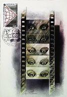 Carte Maximum Card -  Le CINEMA - Timbre Europa 1983 Strasbourg - Cinema