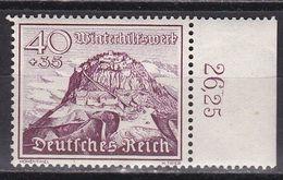 Deutsches Reich 1939 - Mi.Nr. 738 - Postfrisch MNH - Randstück - Nuevos