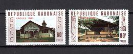 GABON N° 432 + 433   NEUFS SANS CHARNIERE COTE  2.00€  PAQUES EGLISE  VOIR DESCRIPTION - Gabon