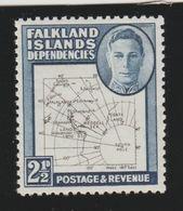 Falkland Islands Dependencies 1946 Mnh Michel 4 Map. - Falkland Islands
