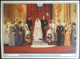 Gambia 1988 Ruby Wedding Minisheet MNH - Gambie (1965-...)
