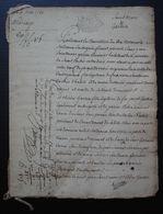 Saint Loubès 1788 (Gironde) Mariage De Jean Saint Marc, Cuisinier Veuf De Jacquette Macé Et Thérèse Garssin - Manuscrits