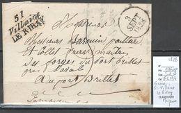 France - Lettre Cursive 51 - VILLAINE LE RIRAY - Mayenne - 1828 - Postmark Collection (Covers)
