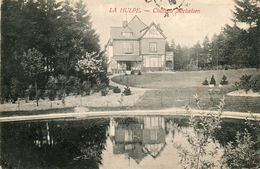 LA HULPE....chateau MICHELSEN.......RARE.....au Dos Tampon Tresor Et Postes 140....1915 - La Hulpe