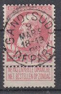 BELGIË - OPB - 1905 - Nr 74 - T1L (GAND(SUD)/DEPART) - COBA + 2.00 € - 1905 Thick Beard