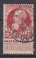 BELGIË - OPB - 1905 - Nr 74 - T1L (GAND(STATION)/DEPART) - COBA + 2.00 € - 1905 Thick Beard