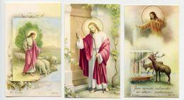 Lotto 3 Santini GESÙ BUON PASTORE (Marcati Eb: V/1056, V/1080, V/1062) - PERFETTO P77- - Religion & Esotérisme