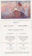 Marine Commerciale / C.G.T. / Paquebot De Grasse, CP-Menu 30 Avril 1930, Commandant Etienne Robert - Commerce
