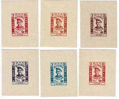 Emission Privée - 6 Blocs (x) Papier épais - DINASTIA CARLISTA - ALFONSO CARLOS REX - 1937 - Nationalistische Uitgaves