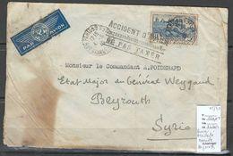 France - Marseille -  Syrie - Accident D'Avion - 04/05/1940 - Airmail