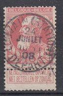 BELGIË - OPB - 1905 - Nr 74 - T1L (LOUVAIN(STATION)DEPART) - COBA + 4.00 € - 1905 Thick Beard