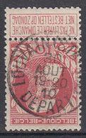 BELGIË - OPB - 1905 - Nr 74 - T1L (LOUVAIN(STATION)DEPART) - COBA + 4.00 € - 1905 Grosse Barbe