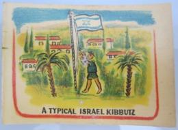 AMERICAN DECALCOMANIA COMPANY 1950'S KIBBUTZ ISRAEL CALCOMANIA LABEL ETIQUETTE AUFKLEBER DECAL STICKER ETIQUETA - Autres Collections