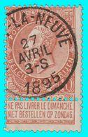 "COB N° 57 - B. Oblitération ""HABAY-LA-NEUVE"" - 1893-1900 Fine Barbe"