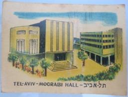 AMERICAN DECALCOMANIA COMPANY MOGRABI HALL TEL AVIV ISRAEL CALCOMANIA LABEL ETIQUETTE AUFKLEBER DECAL STICKER ETIQUETA - Autres Collections