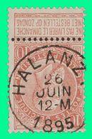 "COB N° 57 - Belle Oblitération ""HALANZY"" - 1893-1900 Fine Barbe"