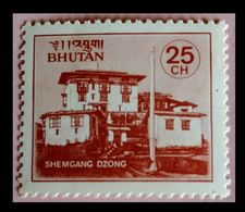 110. BHUTAN (25CH) STAMP SHEMGANG DZONGS . MNH - Bhoutan