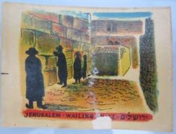 AMERICAN DECALCOMANIA COMPANY WAILING WALL JERUSALEM ISRAEL CALCOMANIA LABEL ETIQUETTE AUFKLEBER DECAL STICKER ETIQUETA - Autres Collections