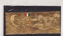 Timbres OR,P.A. En Paire Sous Blister -Anniversaire De L'indépendance 1200fr+1000fr--1970 - Côte D'Ivoire (1960-...)