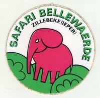 AUTOCOLLANTS . STICKER . ELEPHANT . SAFARI  BELLEWAERDE . PARC D'ATTRACTIONS . ZILLEBEKE . IEPER . YPRES .  BELGIQUE . - Stickers